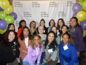Picture of Young Women's Giving Council Members at a fundraiser